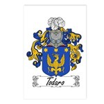Todaro Family Crest Postcards (Package of 8)