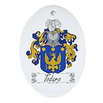 Todaro Family Crest Oval Ornament