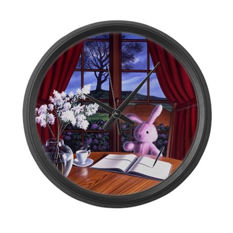 Aunt Dimity's Death Large Wall Clock