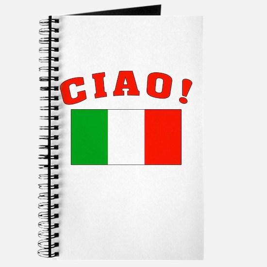 Ciao Italia Italy flag Journal