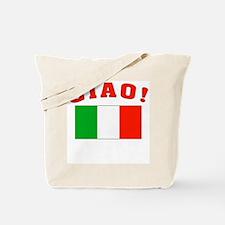 Ciao Italia Italy flag Tote Bag