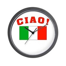 Ciao Italia Italy flag Wall Clock