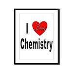 I Love Chemistry Framed Panel Print