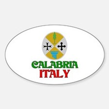 Calabria Italy Oval Decal