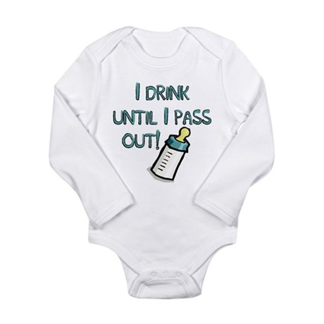 Drink! Long Sleeve Infant Bodysuit