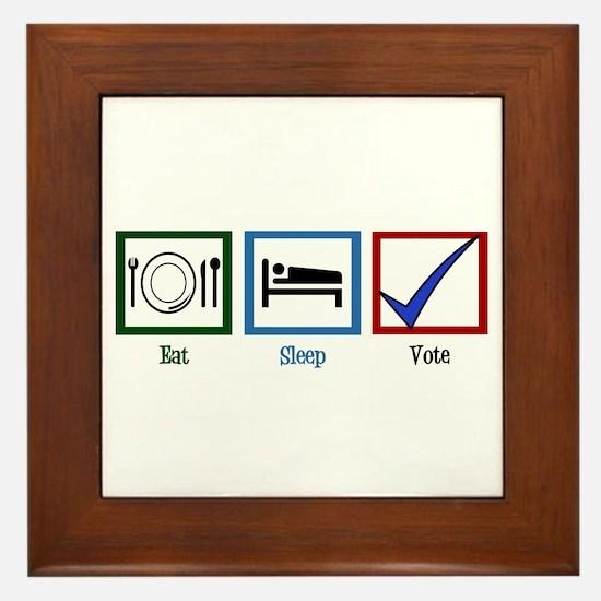 Eat Sleep Vote Framed Tile