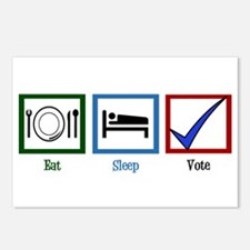 Eat Sleep Vote Postcards (Package of 8)