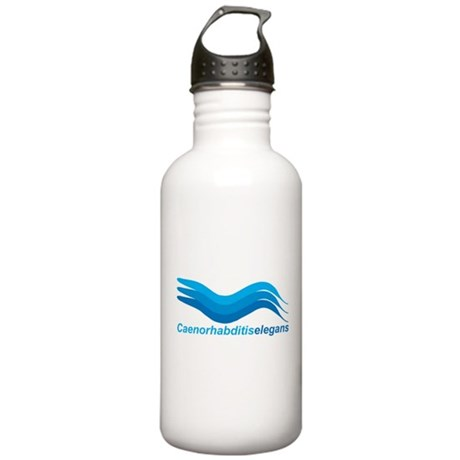 Worm Wave Blue #2 Stainless Water Bottle 1.0L