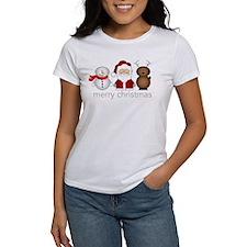 Merry Christmas Characters Tee