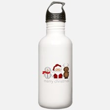 Merry Christmas Characters Water Bottle