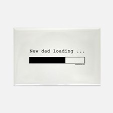New dad loading Rectangle Magnet (10 pack)
