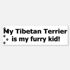 Tibetan Terrier Furry Kid Bumper Bumper Bumper Sticker