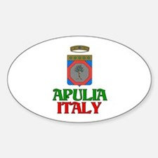 Apulia Italy Oval Decal