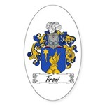 Tironi Family Crest Oval Sticker
