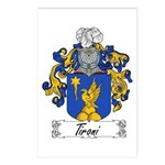 Tironi Family Crest Postcards (Package of 8)