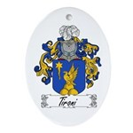 Tironi Family Crest Oval Ornament