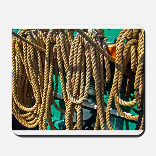 USS Constitution - Ropes for Mousepad
