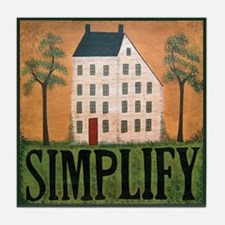 Simplify Primitive Americana Art Tile Coaster