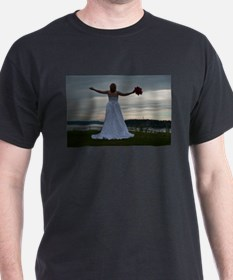 Wedding Arms Outstretched Hor T-Shirt