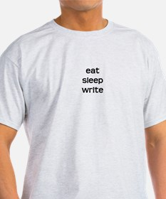 Eat * Sleep * Write - Vertica T-Shirt