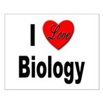 I Love Biology Small Poster