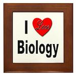 I Love Biology Framed Tile