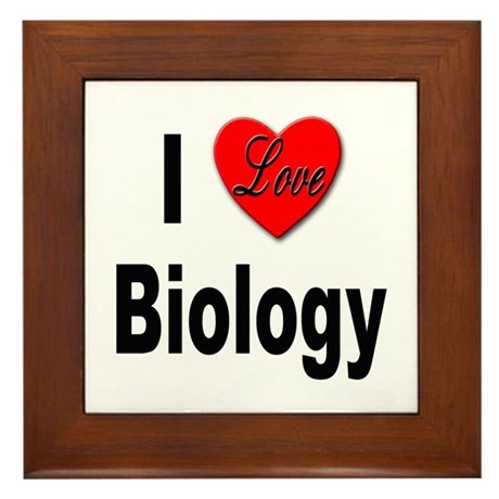 I Love Biology Framed Tile