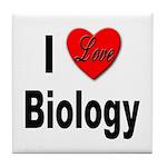 I Love Biology Tile Coaster