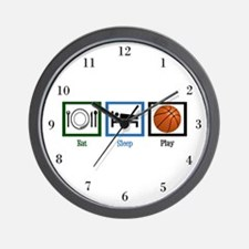 Eat Sleep Basketball Wall Clock