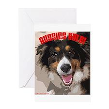 Aussies Rule! Greeting Card