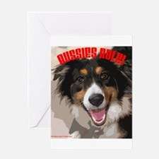Aussies Rule! Greeting Card