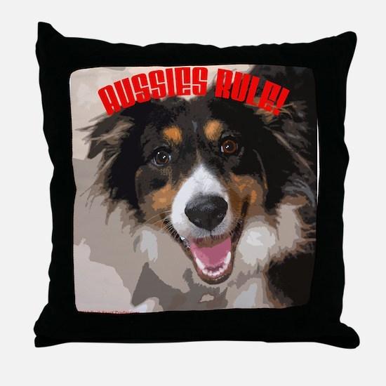 Aussies Rule! Throw Pillow
