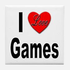 I Love Games Tile Coaster