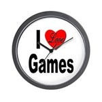 I Love Games Wall Clock