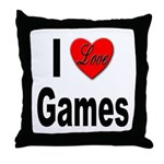 I Love Games Throw Pillow