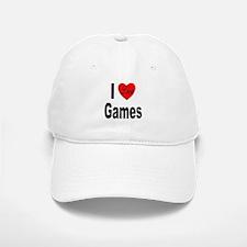 I Love Games Baseball Baseball Cap