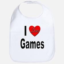I Love Games Bib