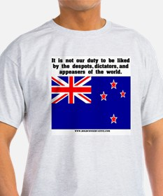 Not Our Duty New Zealand Ash Grey T-Shirt