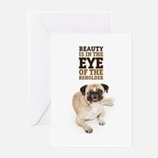 RD Pug Beauty Greeting Cards (Pk of 20)