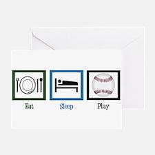 Eat Sleep Baseball Greeting Card