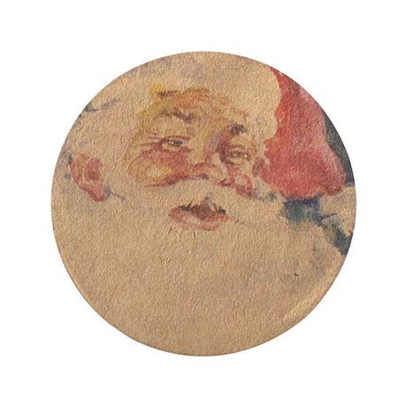 """Vintage Santa Claus 3.5"""" Button (100 pack)"""