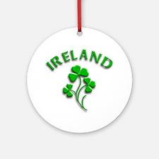 Ireland Luck with Shamrocks Ornament (Round)