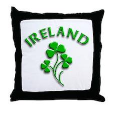 Ireland Luck with Shamrocks Throw Pillow