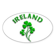 Ireland Luck with Shamrocks Oval Decal