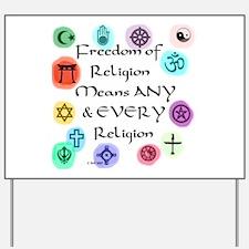 Freedom of Religion Yard Sign