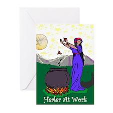 Healer at work Greeting Cards (Pk of 20)