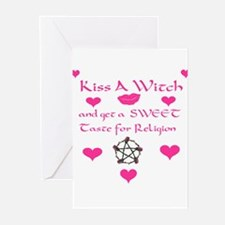 Kiss A Witch Greeting Cards (Pk of 20)