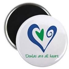 """Doulas All Heart Green 2.25"""" Magnet (100 pack)"""