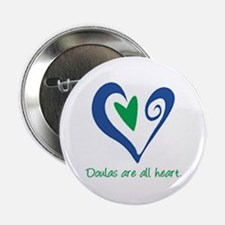 "Doulas All Heart Green 2.25"" Button"