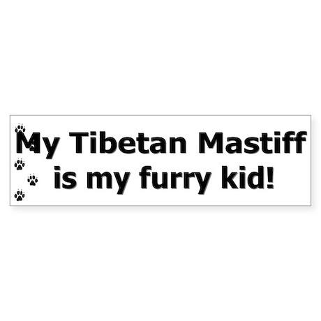 Tibetan Mastiff Furry Kid Bumper Sticker